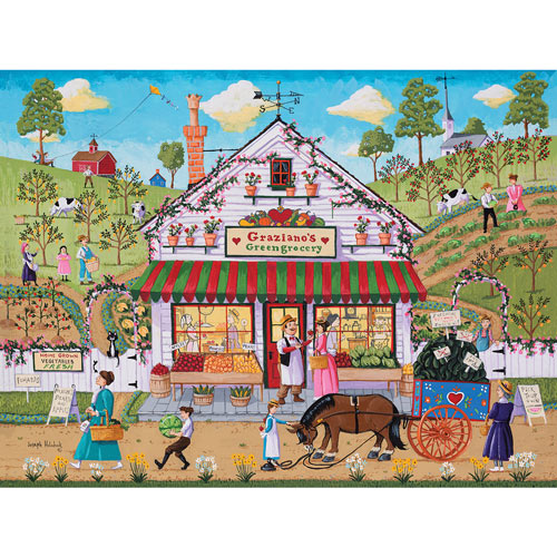 Graziano's Greengrocery 300 Large Piece Jigsaw Puzzle