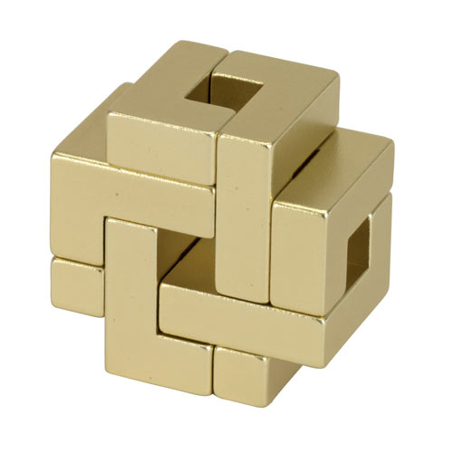 Golden Foursquare Metal Puzzle