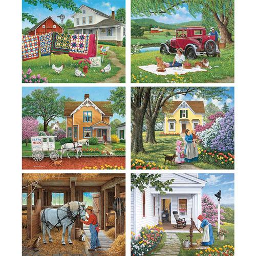 Set of 6: John Sloane 1000 Piece Jigsaw Puzzles