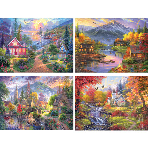 Set of 4: Abraham Hunter 1000 Piece Jigsaw Puzzles