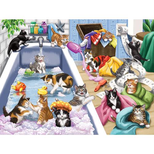 Bathtime Mischief 500 Piece Jigsaw Puzzle
