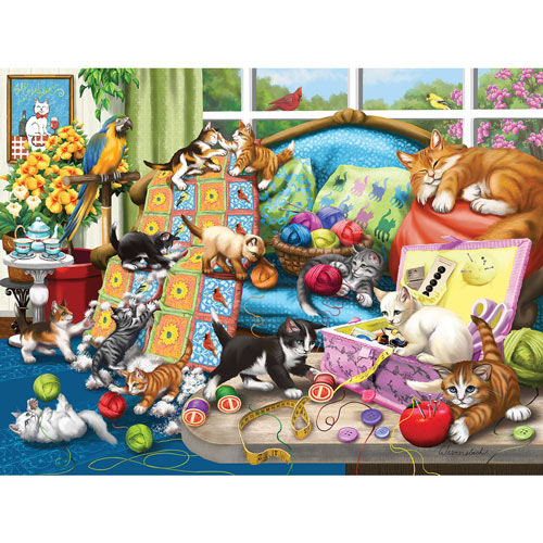 Sewing Room Mischief 500 Piece Jigsaw Puzzle