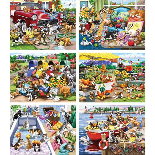 Set of 6: Nancy Wernersbach 500 Piece Jigsaw Puzzles
