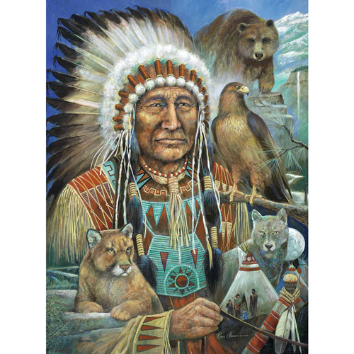 Chief Sitting Bear 300 Large Piece Jigsaw Puzzle