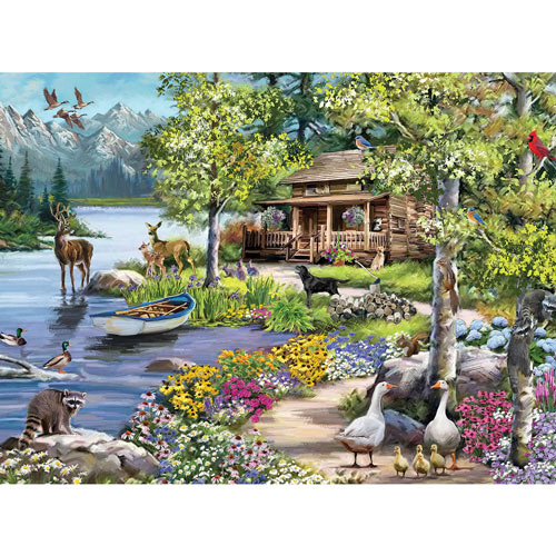 Cabin By The Lake 1000 Piece Jigsaw Puzzle