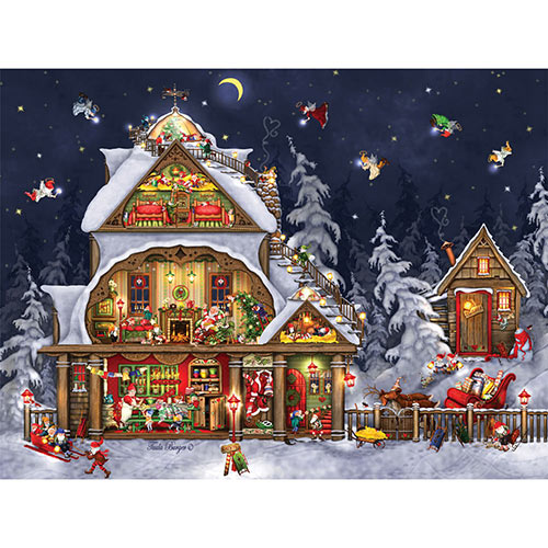 Santa's House 300 Large Piece Jigsaw Puzzle