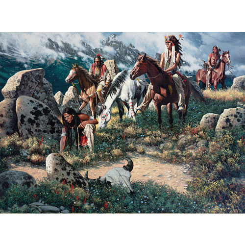 Scouting The High Ridge 1000 Piece Jigsaw Puzzle