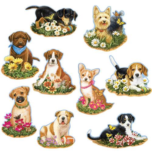 Precious Puppies Mini 750 Piece Shaped Puzzle Set