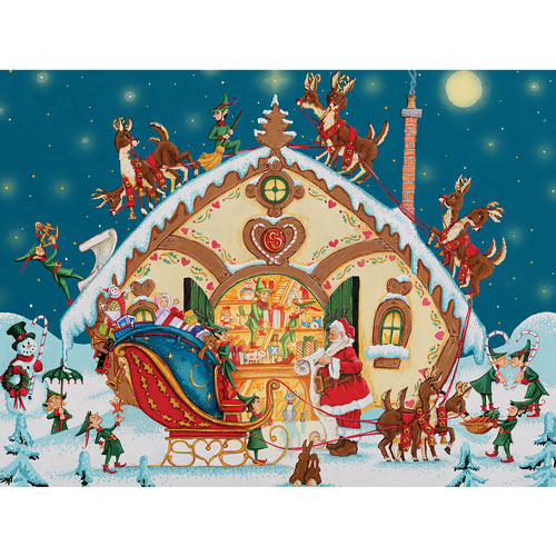 Loading The Sleigh 500 Piece Jigsaw Puzzle