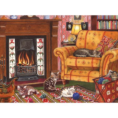 Fireside Kittens 1000 Piece Jigsaw Puzzle