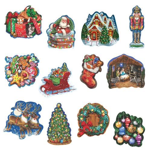 Christmas Celebration 750 Piece Shaped Jigsaw Puzzle
