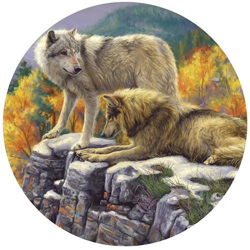 In the Wild 300 Large Piece Round Jigsaw Puzzle