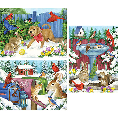 Set of 3: Jane Maday 300 Large Piece Puzzles