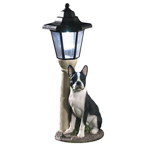 Solar Boston Terrier Lantern