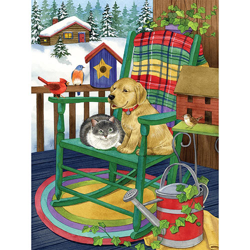 A Cozy Porch 500 Piece Jigsaw Puzzle