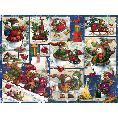Snow Families Quilt 500 Piece Jigsaw Puzzle