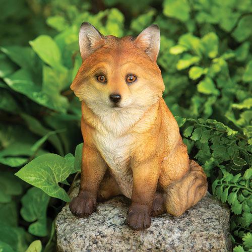 Fox Pup Garden Sculpture