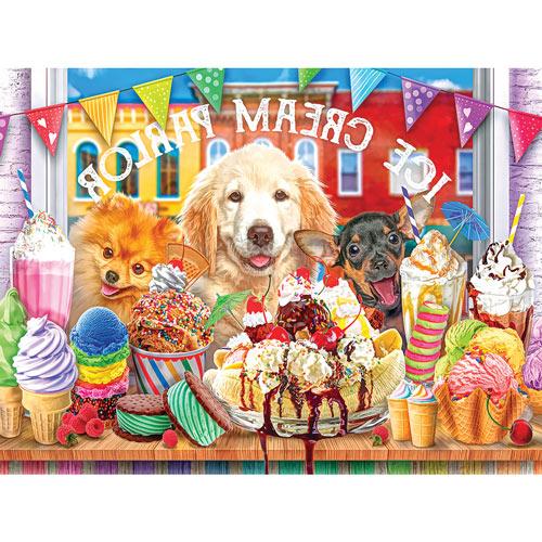 Ice Cream Parlour Pups 300 Large Piece Jigsaw Puzzle