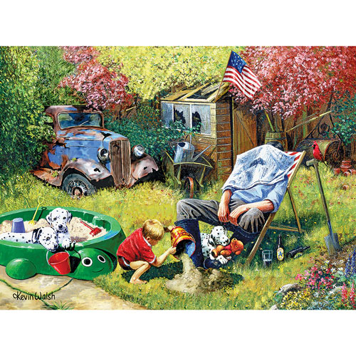 A Day With Grandpa 300 Large Piece Jigsaw Puzzle
