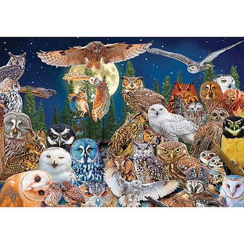 Night Owls 500 Piece Giant Jigsaw Puzzle