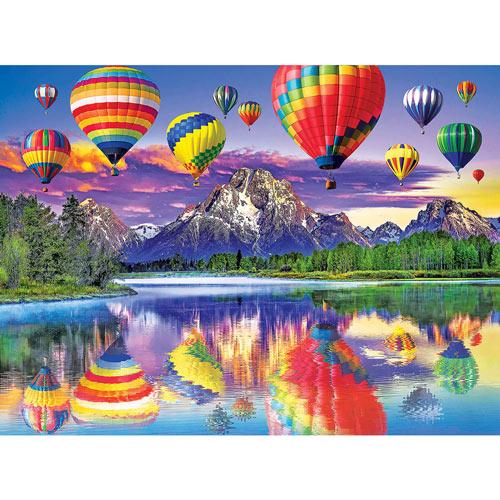 Balloon & Mountain Reflection 500 Piece Jigsaw Puzzle