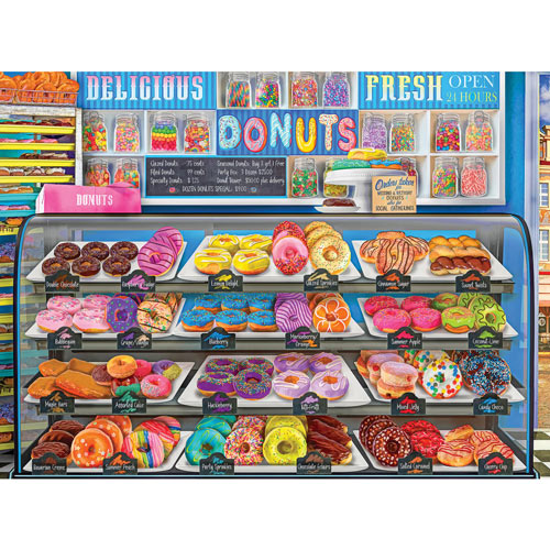 Delicious Donuts Daily 1000 Piece Jigsaw Puzzle