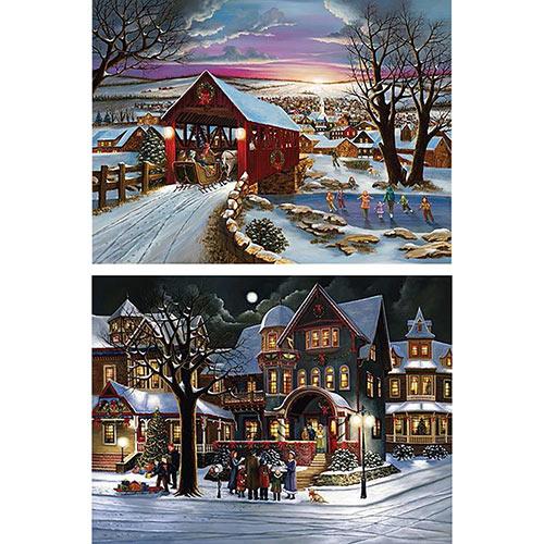 Set of 2: The Joys Of Christmas 300 Large Piece Jigsaw Puzzles