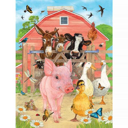 Fun On The Farm 500 Piece Jigsaw Puzzle
