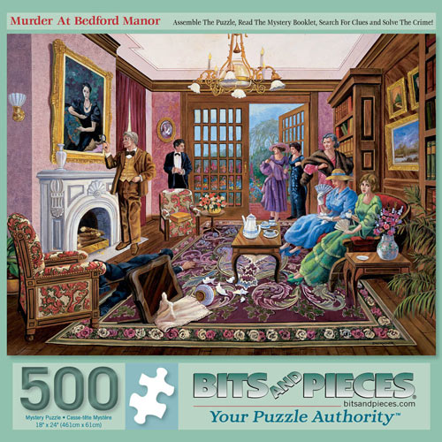 Murder At Bedford Manor 500 Piece Jigsaw Puzzle