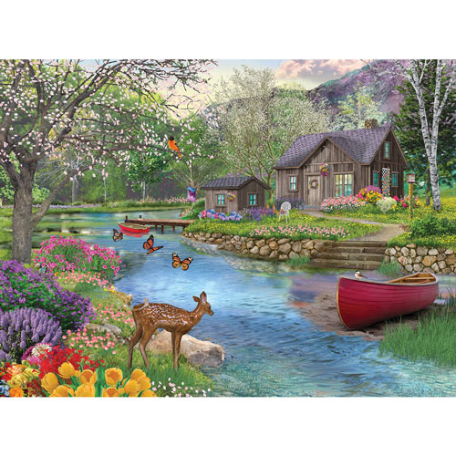 Spring Cabin 1000 Piece Jigsaw Puzzle