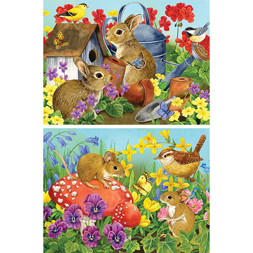 Set of 2: Pre-Boxed Jane Maday 300 Large Piece Jigsaw Puzzles