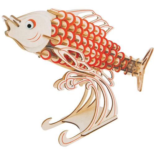 3D Wooden Fish Puzzle