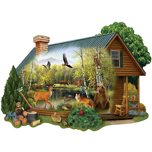 Cabin In the Wild 300 Large Piece Shaped Jigsaw Puzzle