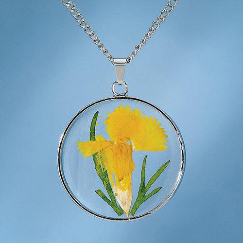 Birth Flower Necklace - March (Dianthus)