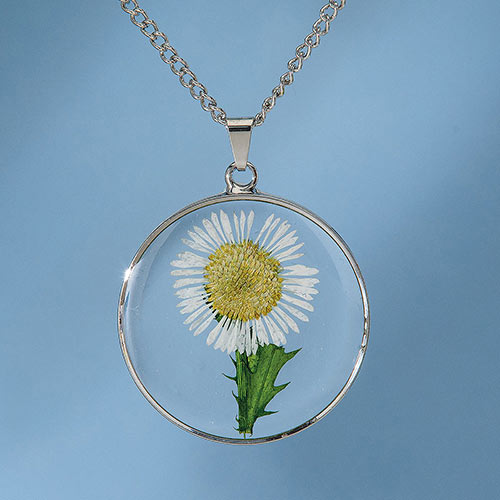 Birth Flower Necklace - April (Daisy)