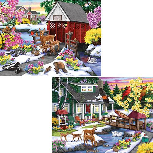 Set of 2: Life on Farm 1000 Piece Jigsaw Puzzles