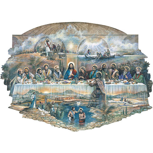 Last Supper 300 Large Piece Shaped Jigsaw Puzzle