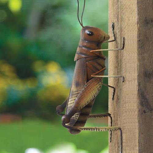 Good Luck Garden Grasshopper Metal Tree Hugger