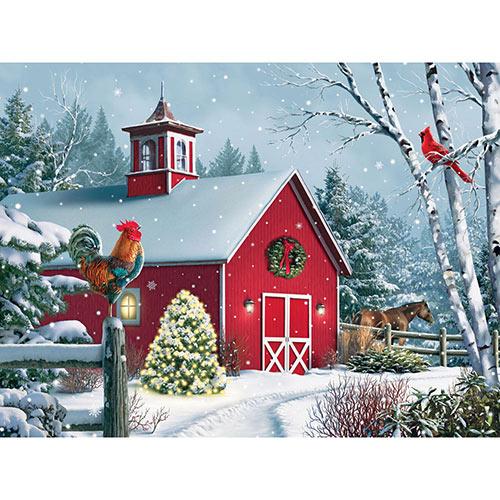 Winter Barn II 1000 Piecee Jigsaw Puzzle
