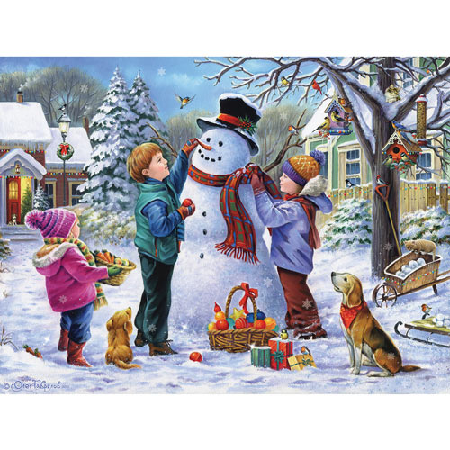 Snowman's Finishing Touches 500 Piece Jigsaw Puzzle