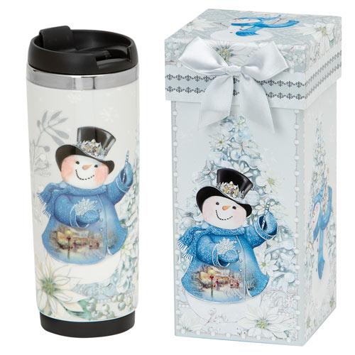 Snowman Insulated Travel Mug