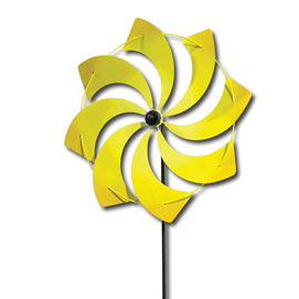 Yellow Pinwheel Stakes