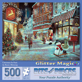 Christmas In Paris 500 Piece Glitter Effect Jigsaw Puzzle