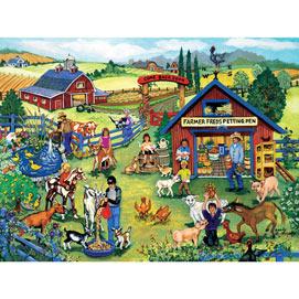 Farmer Fred's Petting Pen 500 Piece Jigsaw Puzzle