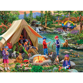 Camping At Summers End 1000 Piece Jigsaw Puzzle