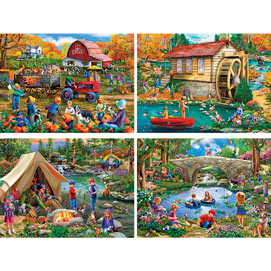 Set of 4: Mary Thompson 1000 Piece Jigsaw Puzzles
