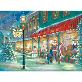 Candy Cane Lane 300 Large Piece Glow-In-The-Dark Jigsaw Puzzle