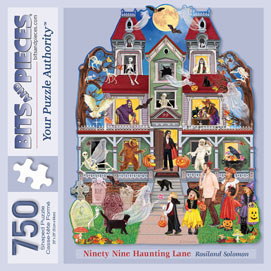 Ninety Nine Haunting Lane 750 Piece Shaped Puzzle