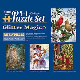 Glitter 1000 Piece 4-in-1 Multi-Pack Set