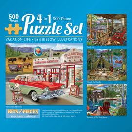 Bigelow Illustrations 500 Piece 4-in-1 Multi-Pack Set